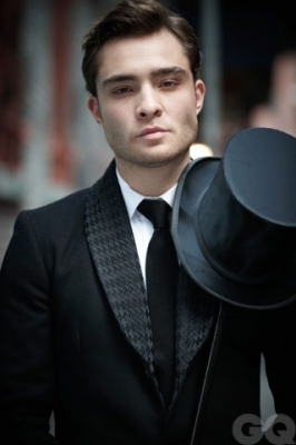 Ed Westwick wallpaper probably containing a business suit entitled Ed's Photoshoot for GQ UK