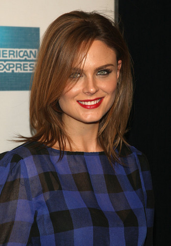 Emily Deschanel at the premiere of Serious Moonlight