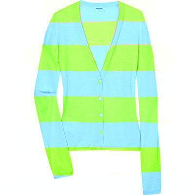 Green/Blue Striped Sweater
