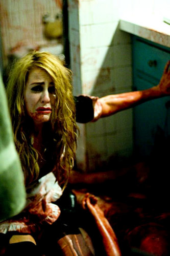Scout Taylor-Compton wallpaper possibly containing a sign and an abattoir titled Halloween II