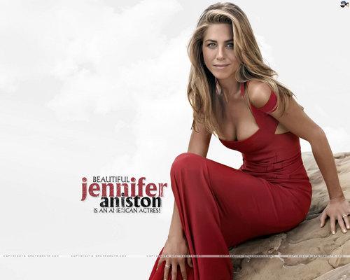 Jennifer Aniston wallpaper with a portrait entitled JA