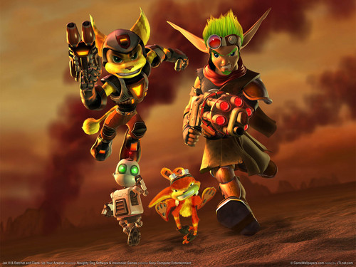 funkyrach01 wallpaper entitled Jak and Daxter - Ratchet and Clank