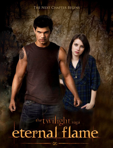 Jacob Black and Renesmee Cullen 壁纸 probably with a sign and a 街, 街道 entitled Jake Nessie History - Eternal Flame