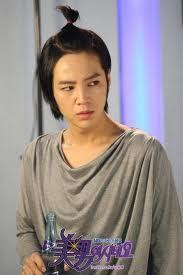 A-N-JELL Hintergrund possibly containing a nightwear, a blouse, and a bademantel titled Jang Geun Suk