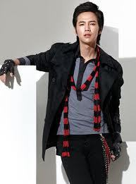 A-N-JELL Hintergrund possibly with a well dressed person, an outerwear, and an overgarment called Jang Geun Suk