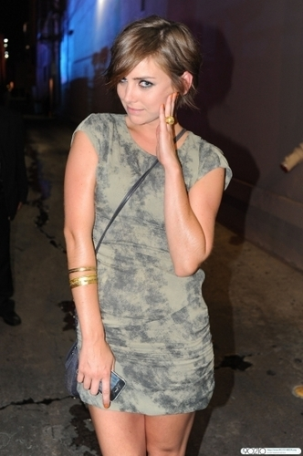 Jessica Stroup At Jimmy Kimmel Live in Hollywood