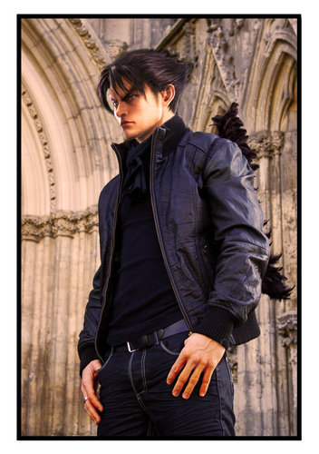 Tekken wallpaper containing a well dressed person, an outerwear, and a business suit entitled Jin Kazama