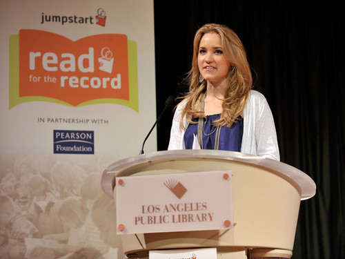 Jumpstart's Read for the Record at the LA Public としょうかん, ライブラリ