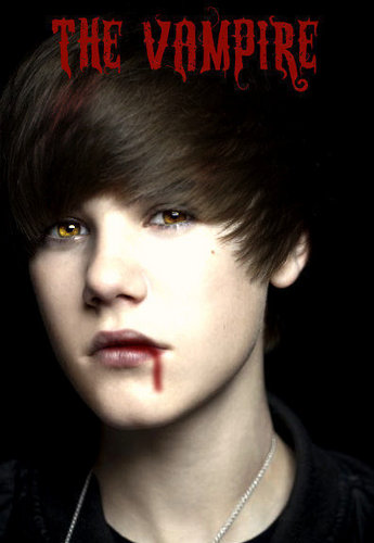 Justin as a vampire XD