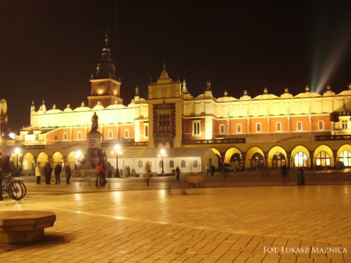 Krakow por night, Poland