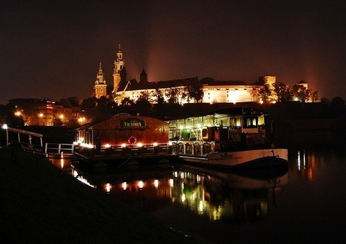 Krakow দ্বারা night, Poland
