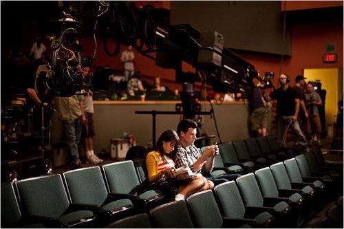 Lea & Cory backstage