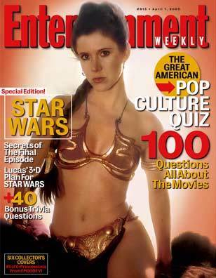 Leia on The cover of Entertainment weekly