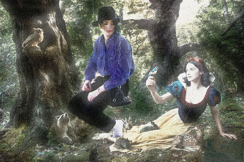Michael And Snow White Photoshop Art