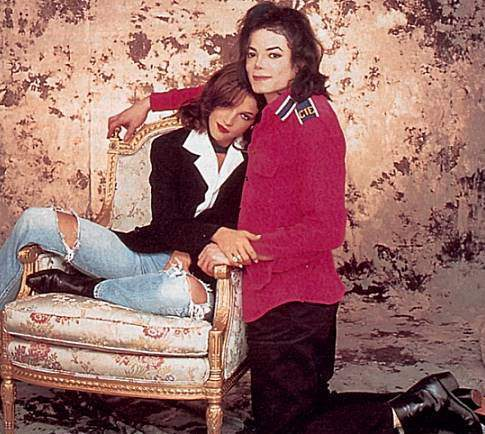 Michael with Lisa Marie
