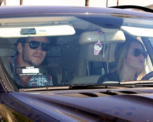 Miley & Liam out in Studio City