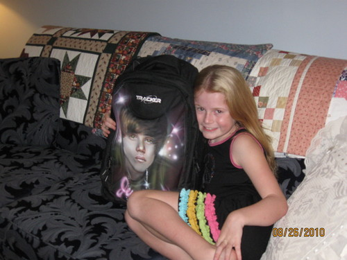 Myah hangin' with Justin