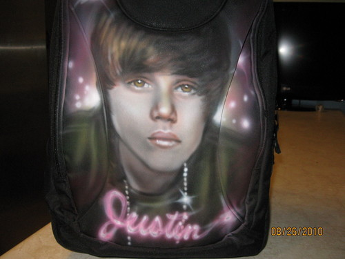 Myah's Air-brushed Backpack of Justin