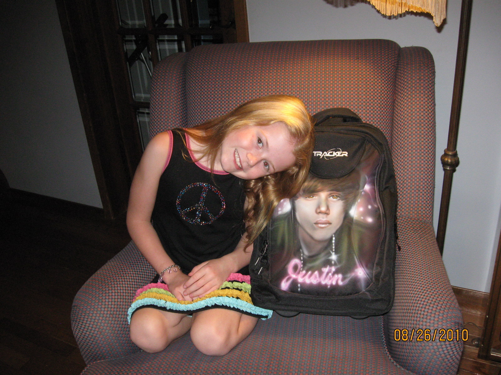 Myah's Backpack with Justin - justin-bieber fan art