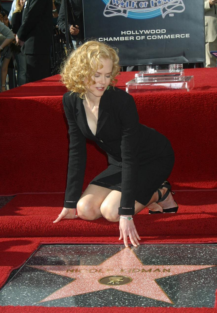 Nicole Gets Her bintang on The Hollywood Walk of Fame 2003