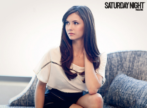 Nina Dobrev @ Saturday Night Magazine