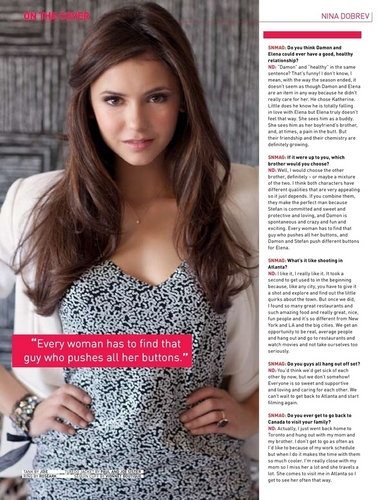 Nina Dobrev - Saturday Night Magazine