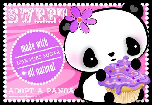 Pandas wallpaper called PANDA WITH A TASTEY CUPCAKE