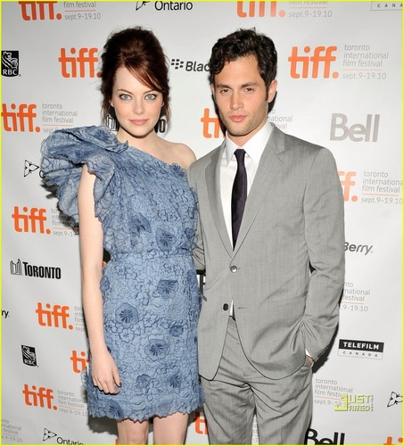 Penn Badgley at TIFF with Emma Stone