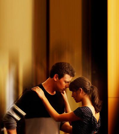 Rachel Berry wallpaper probably containing a sign, a living room, and a drawing room entitled Rachel & Finn