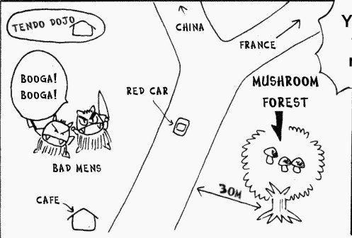Ranma 1/2 manga - Ryoga's Map