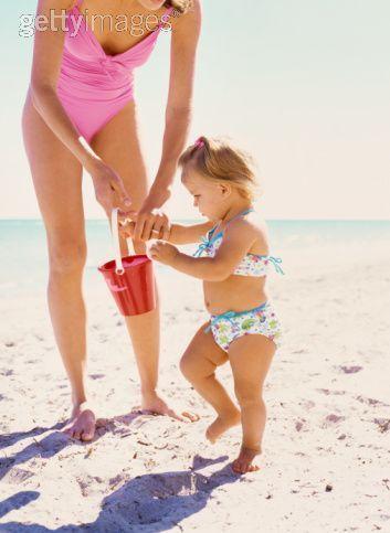 Renesmee and Momma playing on La push playa