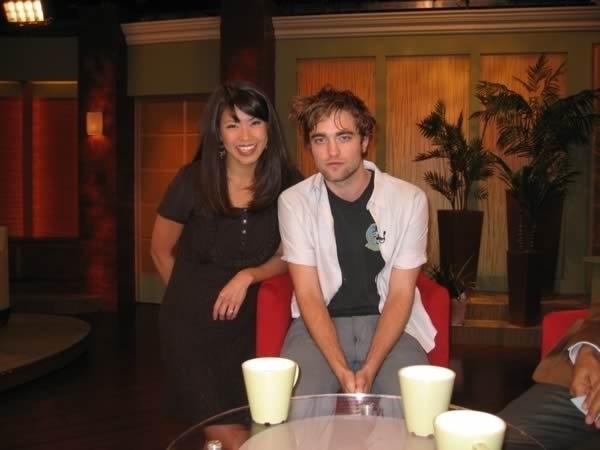 Robert Pattinson with fan
