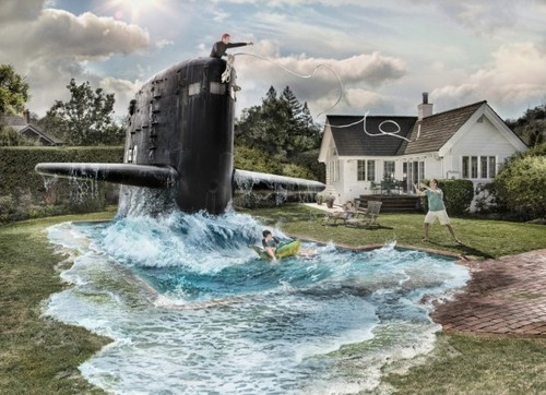 SUBMARINE IN THE POOL