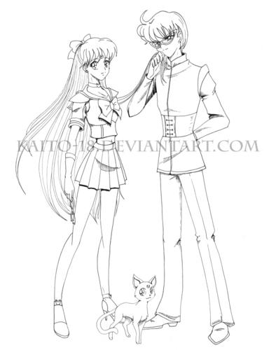 Sailor Venus and Ace Kaito