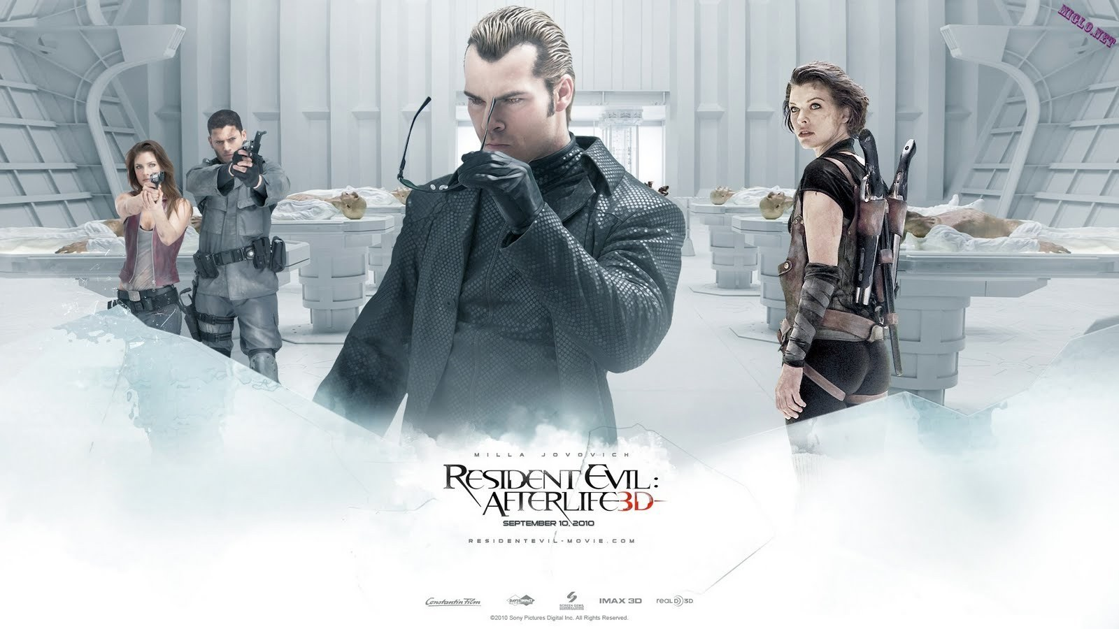 resident evil movies wesker