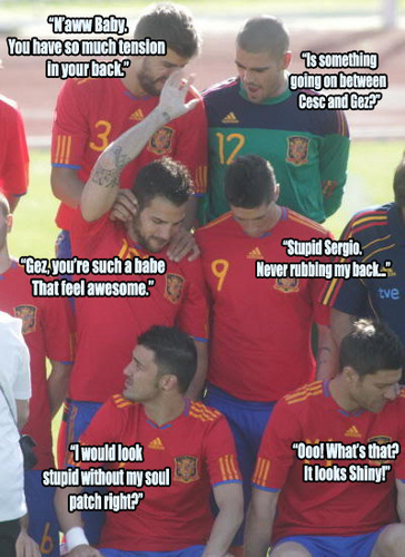 Spain National Football Team wallpaper with a bearskin entitled Spain funny!¡