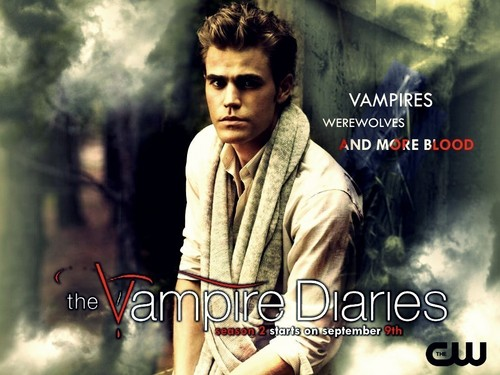 The Vampire Diaries wallpaper probably containing a portrait entitled Stefan