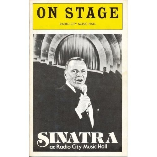 Theatre program from Frank Sinatra at Radio City muziek Hall (1978)
