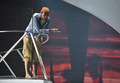 Travie McCoy rehearse at the Nokia Theater for the 2010 MTV VMAs. - travie-mccoy photo