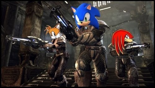 War Sonic wit His Friendz Tails and Knuckles