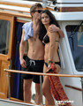 Xavier Samuel and Shermine Shahrivar kissing  - twilight-series photo