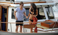 Xavier Samuel and Shermine Shahrivar kissing
