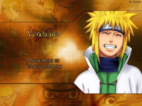 Minato Namikaze Hintergrund titled Yondaime