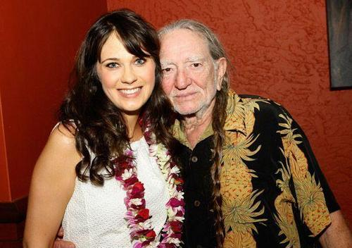 Zooey Deschanel and Willie Nelson - Maui Film Festival