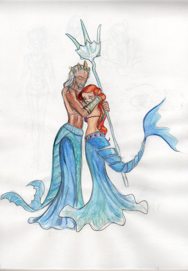 Ariel The Little Mermaid Drawing | Search Results ...