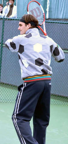 federer funny outfit