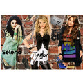 ms - miley-cyrus-vs-selena-gomez fan art