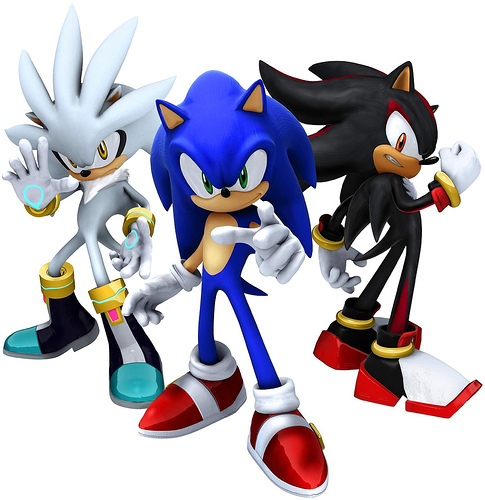 sliver vs sonic vs shadow - sonic-shadow-and-silver Photo