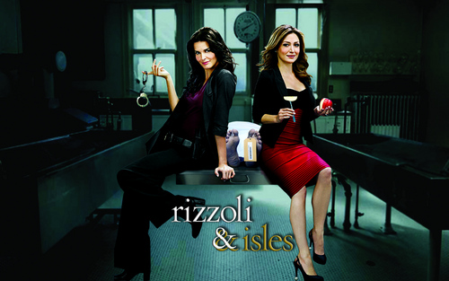 Rizzoli & Isles wallpaper possibly containing hosiery, tights, and a playsuit titled wallpaper