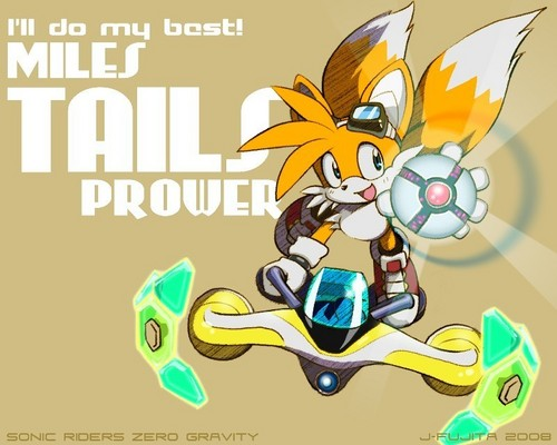 "Miles ""Tails"" Prower wallpaper with anime called zero gravity tails!!"